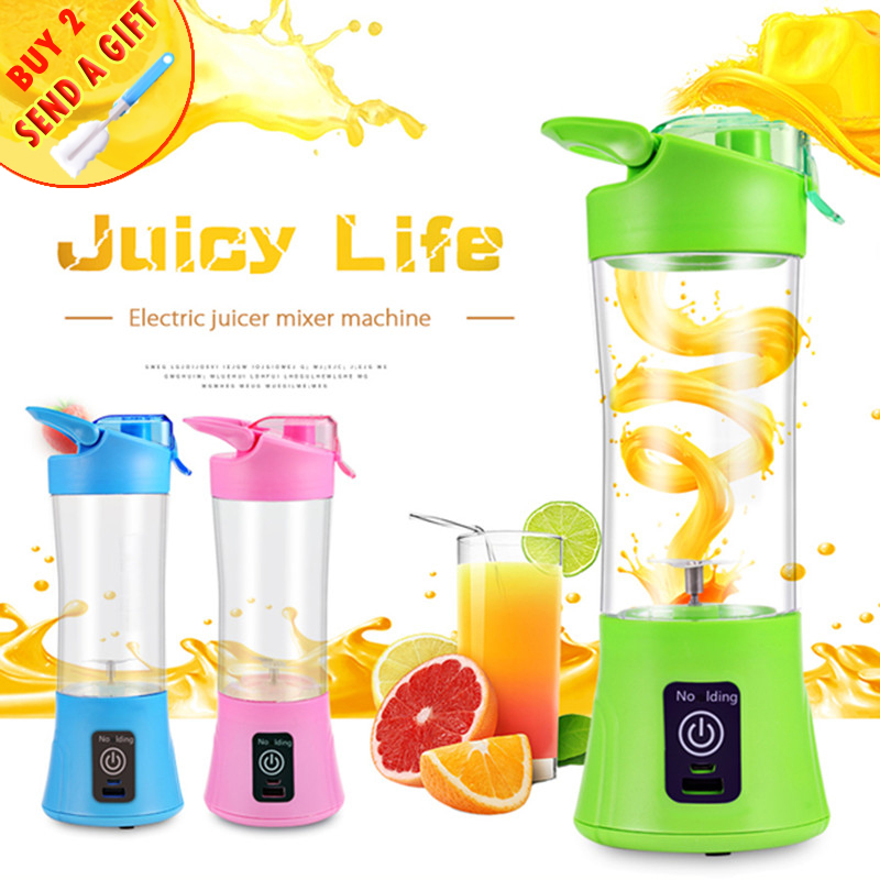 400ML Home Portable Blender Juicer Cup USB Rechargeable Electric Automatic Vegetable Fruit Citrus Juice Maker Cup Mixer Bottle