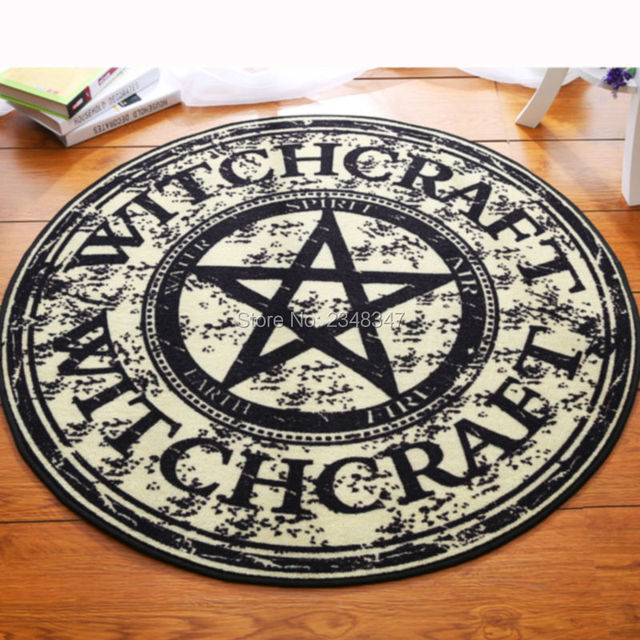 Fashion Pentagram Soft Flannel Foot Door Yoga Chair Play Mat Bathroom Hallway Carpet Area Rug Round