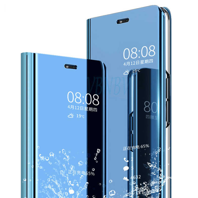 Jelas Cermin Case untuk Huawei P8 P9 P10 P20 Lite 2017 PLUS 10 20 Lite Pro Flip Case untuk Honor 10 9 8 Nova 3 3i Y6 Y7 Y9