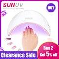 SUNUV SUN9c 36 W UV LED de luz secador de uñas UVLED Gel lámpara de uñas arco lámparas en forma para arte de uñas perfecto pulgar solución de secado