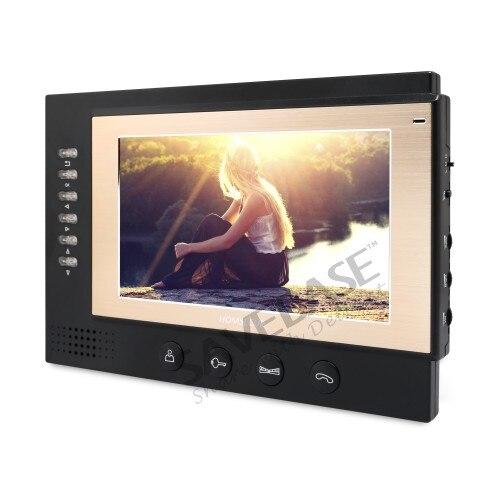 HOMSECUR 7 телефон видео домофон Системы + черный Камера для дома безопасности 1C1M: TC011-B Камера (черный) + TM701R-B монитор (черный)