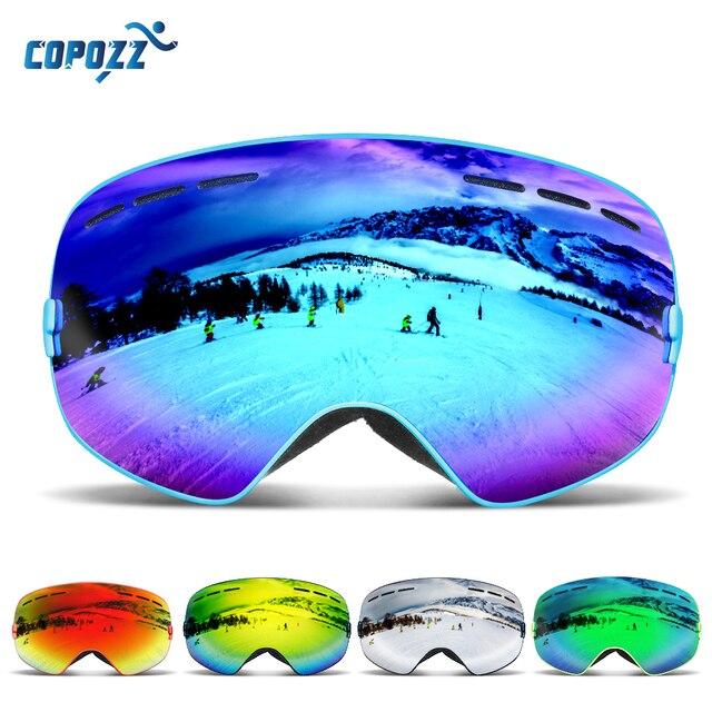 COPOZZ бренд лыжные очки Для мужчин Для женщин сноуборд очки для Лыжный Спорт UV400 защиты от снега Лыжный Спорт очки Анти-туман Лыжная маска