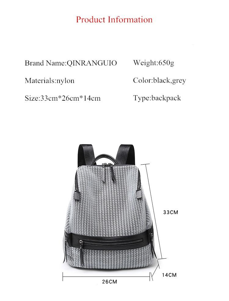 HTB1Uk8Wt21TBuNjy0Fjq6yjyXXaB QINRANGUIO Nylon Backpack Women 2019 Fashion Women Backpack Large Capacity School Bags for Teenage Girls School Backpack Travel