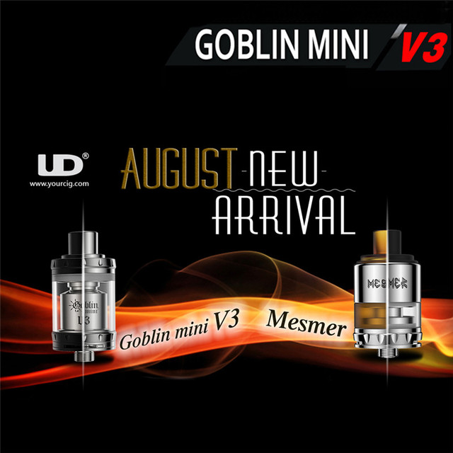 100% Original Youde UD Goblin Mini V3 RTA Tank Top-filling with Two 16mm Decks Atomizer Tank 4ml Vaporizer