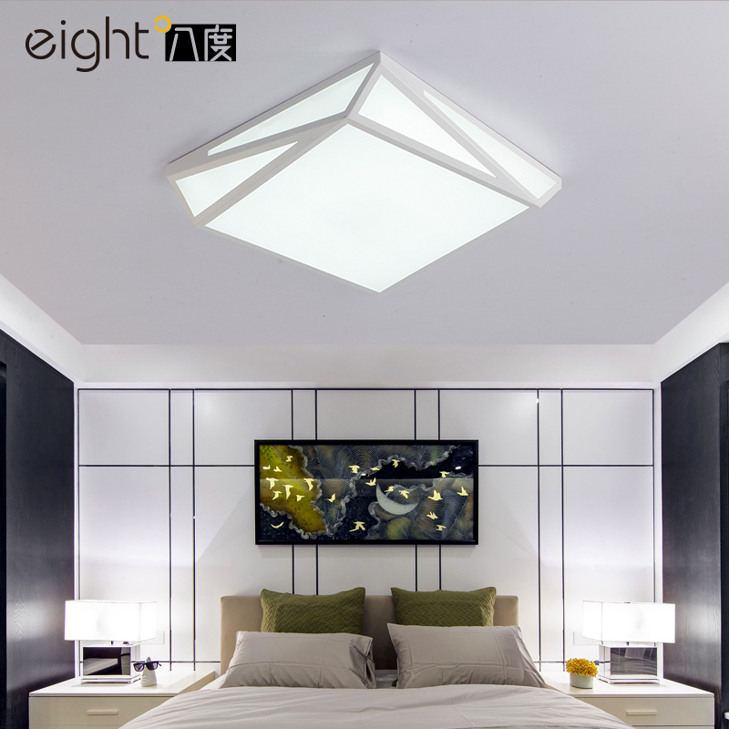 White LED Ceiling Lights Modern Nordic 30W 40W Acrylic Flush Panel Light For Living Dining Room Kitchen Home Deco Ceiling Lamp image