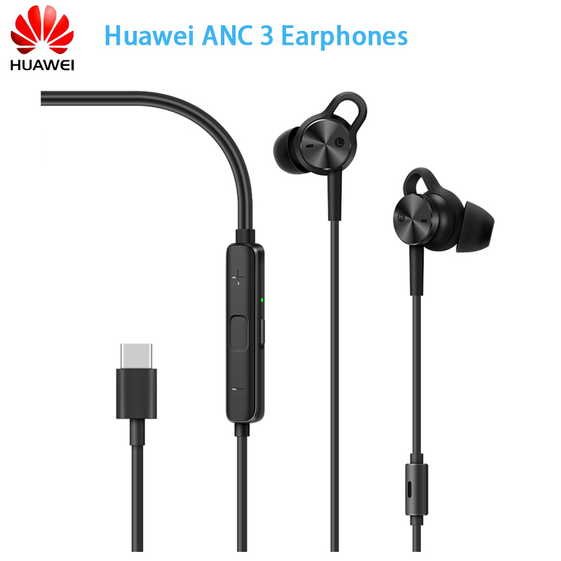 Brands Newest Huawei ANC 3 Earphones 3 Mode Active Noise Cancel Hi-Res Quality Music Type-C Charge-Free Mic Anti-Wind Design