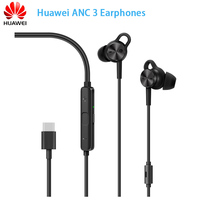 Brands Newest Huawei ANC 3 Earphones 3 Mode Active Noise Cancel Hi Res Quality Music Type C Charge Free Mic Anti Wind Design