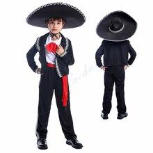 Halloween Mexico Mariachi Amigo Dance Costume For Kids Boys Mexican Party Cosplay Clothing