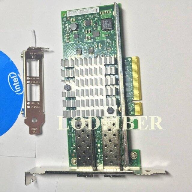 محول شبكة خادم إيثرنت ثنائي المنفذ Intel X520 DA2 10 جيجابت 10GBe SFP