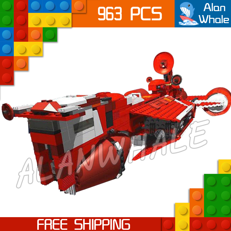 963pcs New Space Wars Republic Cruiser 05070 Model Building Blocks Bricks Gifts Children Boys Toys Compatible With Lego 957pcs space wars jedi defender class cruiser universe starship 05085 model building block toy bricks games compatible with lego