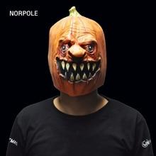 Хэллоуин Тыква конструкции маски страшно латекс вечерние маска для взрослых Косплэй реквизит Необычные платья