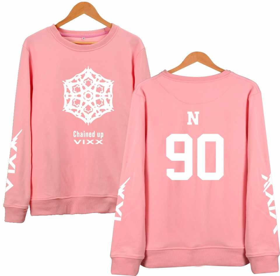 WEJNXIN Harajuku K-POP VIXX Hoodies Women Pullover Pink Sweatshirt Fans Support Fleece Tracksuit Couple Clothing Free Gift