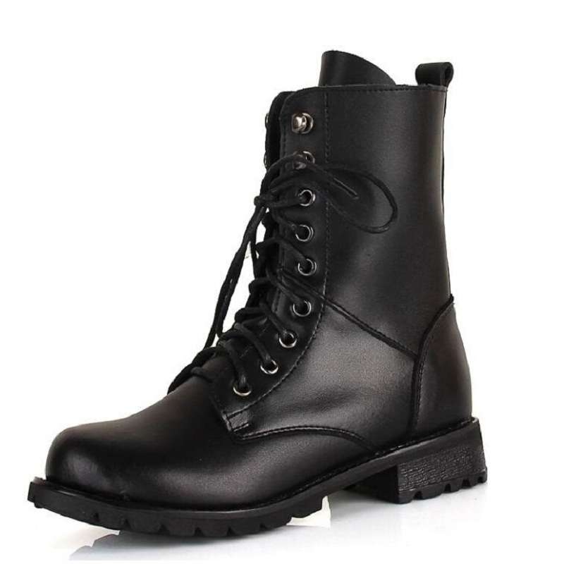 Popular Lace up Combat Boots Black-Buy Cheap Lace up Combat Boots ...