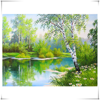 Diamond Mosaic Diamond Painting Cross Stitch Forest Creek Breath Of Spring Scenic Diamonds Embroidery Home Decoration