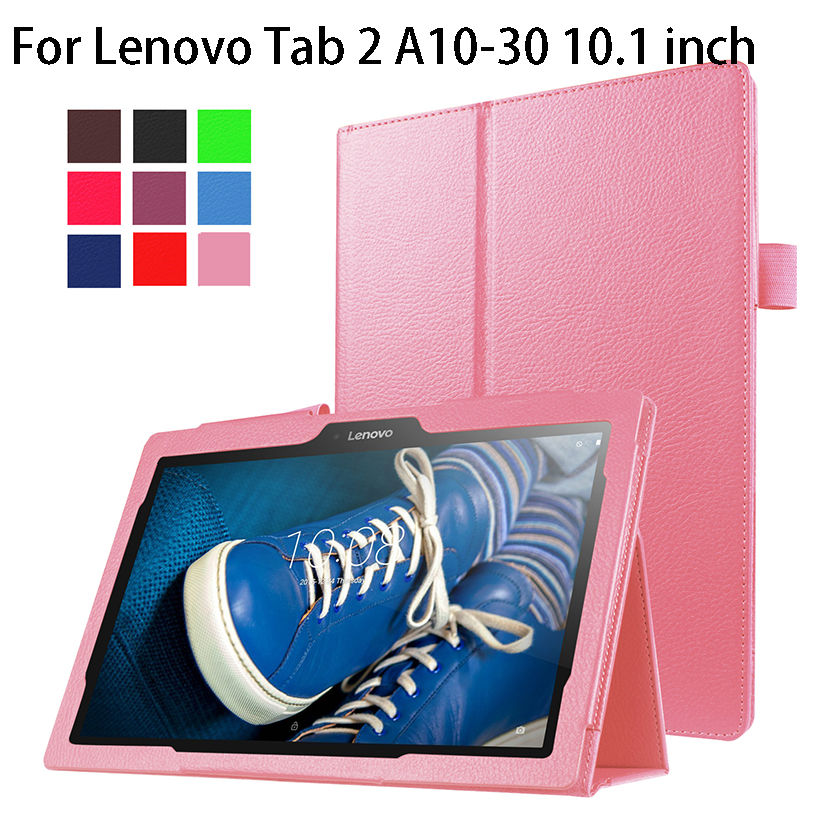 Slim PU Leather Case For Lenovo Tab 2 A10-30 X30F Cover 10.1 inch Cases Funda Tablet for Lenovo Tab 2 A10-70 A10-70F Stand Shell for lenovo tab2 a10 70f smart flip leather case cover for lenovo tab 2 a10 70 a10 70f a10 70l tablet 10 1 with screen protector