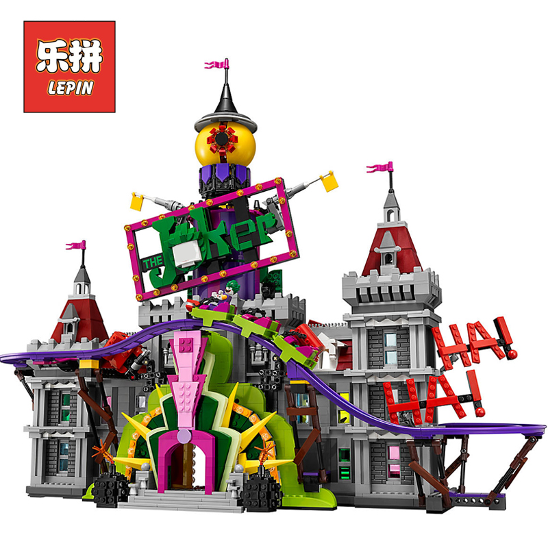 Lepin Movie 07090 the Joker's Manor Set Super Hero Series 70922 Building Blocks Bricks Legoinglys Birthday Children Gift