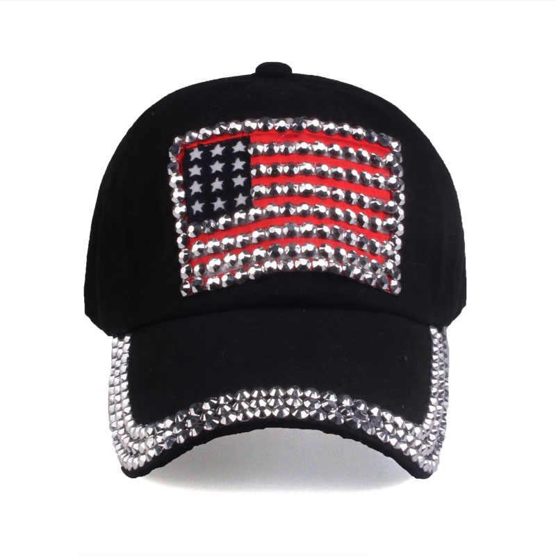 [YARBUU] thương hiệu cap 2017 new thời trang chất lượng cao bóng chày cho phụ nữ và nam giới rhinestone denim mũ hip hop snapback hat