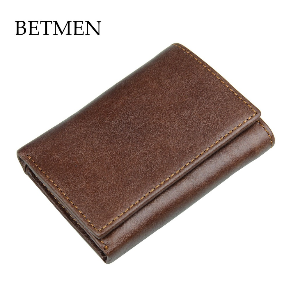 e709afa55a4d BETMEN Luxury Vintage Men Wallets Crazy Horse Genuine Leather Wallet Purse  - us189
