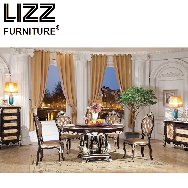 Marble Dining Table Dining Room Furniture Set Royal Luxury ...