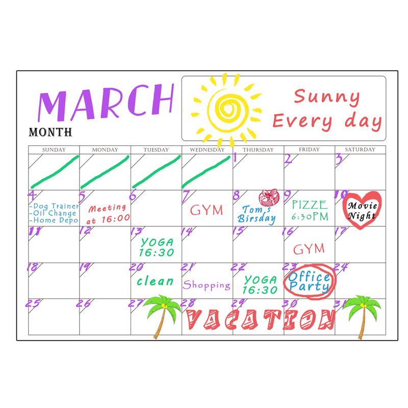 monthly sticker chart