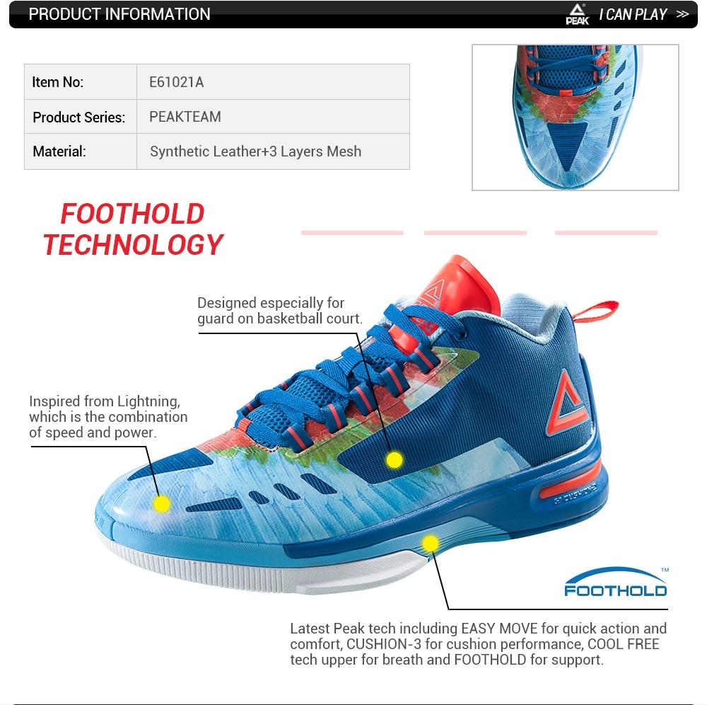 Pico profesional Zapatillas de baloncesto hombres Zapatos Cojines-3 ...