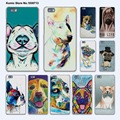 Cão Husky Border Collie Colorido Art pug vida dura transparente Tampa do telefone case para huawei p9 p8 lite p9plus p7 mate 9 mate s 8