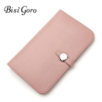 Bisi Goro Wallet 2018 Fashion Wallet Women Cowhide Leather Wallet Money Bag For Phone Brand Women Purse Long Purse Coin Purse