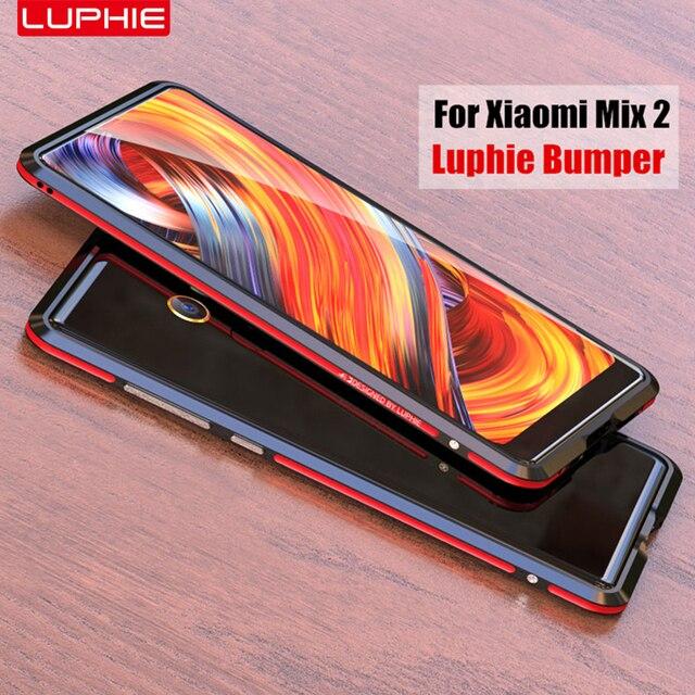 big sale effb7 b69fb US $11.88 |xiaomi mi mix 2 bumper original luphie highly oxidized aviation  aluminum frame metal bumper for xiaomi mi mix 2 cover case-in Phone Bumper  ...