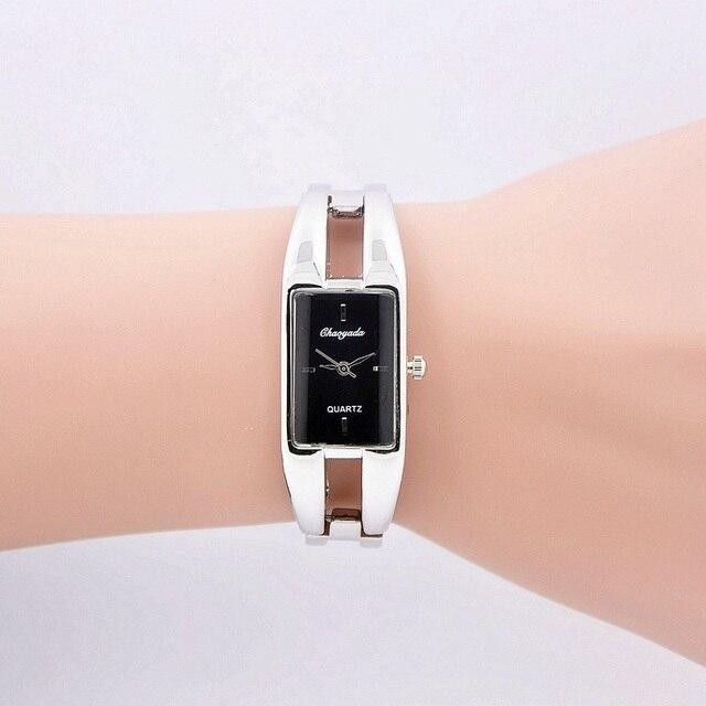 Luxury Fashion Designer Geneva Quartz Watch Women Stainless Steel Bracelet Watch