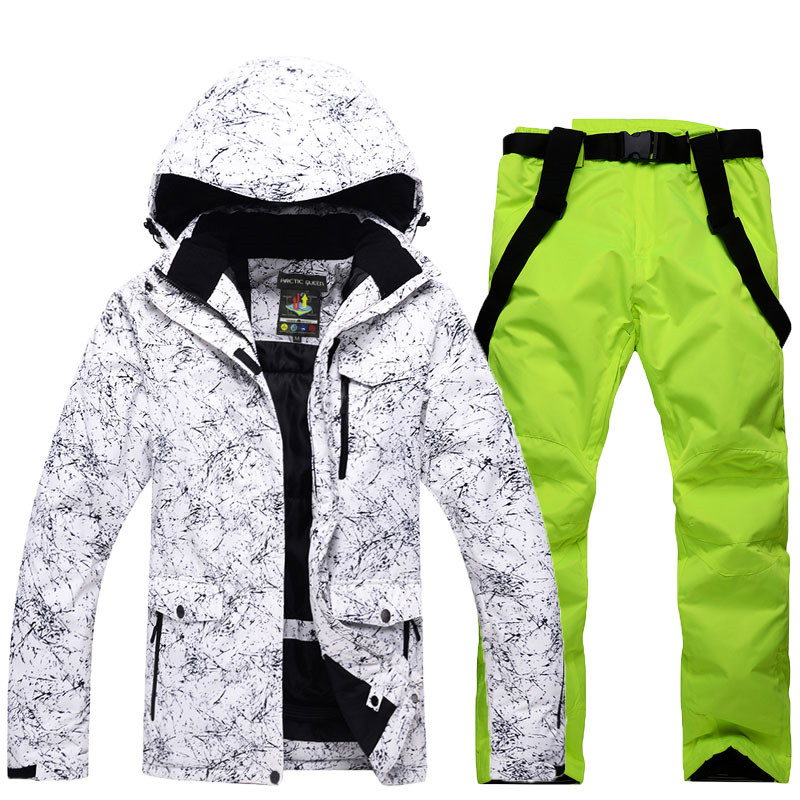 где купить Snow Jackets Man/Woman Snowboarding Clothes Winter Outdoor Sports ski suit sets Waterproof Thick -30 Warm Costume jackets+pants по лучшей цене