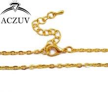 100 шт 3 мм плоский металлический кабель цепочка Позолоченные 8 ''браслеты 16'' до 32 ''цепочка на шею с застежкой Омаров удлинитель FCC012