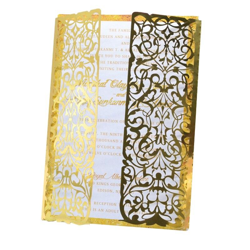 Us 20 24 12 Off Latest Wedding Card Designs Birthday Party Baby Shower Supplies Laser Cut Invitation Card Wedding In Cards Invitations From Home