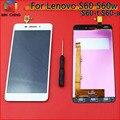 De alta Qualidade Novo Toque Digitador Da Tela + Display LCD de Substituição para lenovo s60 s60w celular 5.0 polegada 1280*720 preto branco