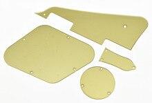 KAISH LP Pickguard Cavity Covers Turss Rod Cover Set for Epiphone Les Paul Gold Mirror