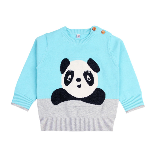 f7d90d4b4 Baby Girls Sweaters Adorable Panda Toddler Boys Knitted Jumpers ...