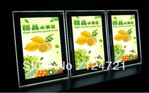 levou placa de exposicao do menu a3 a3 lightbox poster frames