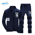New Spring Zipper Sweatshirts Men'S Sporting Suits 2017 Sudaderas Hombre Hoodie Fleece+Sweatpants Sweat Suit Plus Size