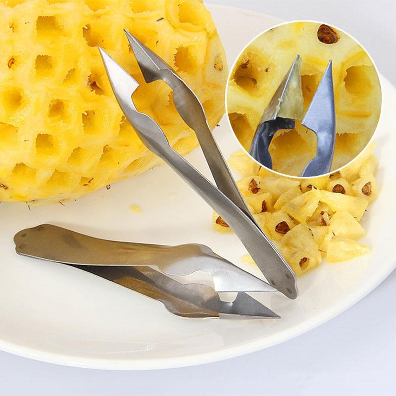 Stainless Steel Pineapple Eye Remover Fruit Peeler Slicer Cutter Kitchen ToolSP