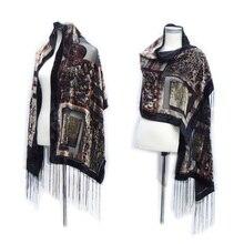 Сексуальный вельветовый шарф с леопардовым принтом, зимний шарф, Роскошные Дизайнерские шарфы, пончо для женщин, подарок для влюбленных мам