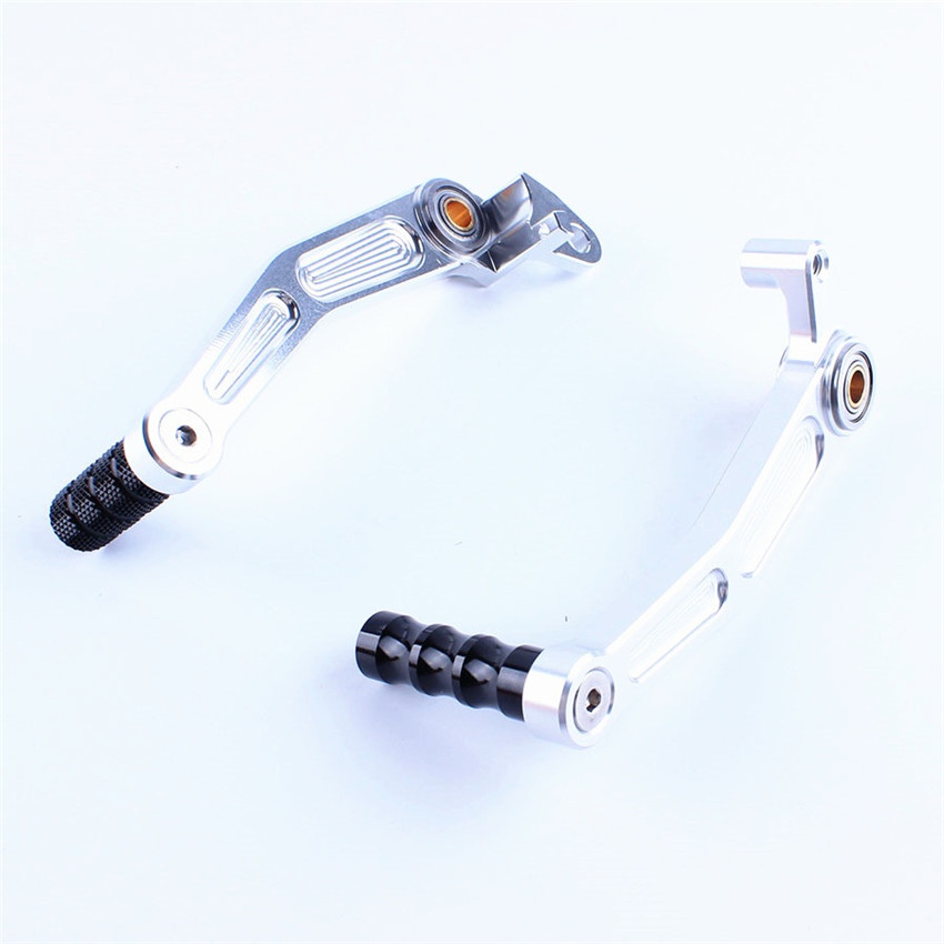 цена на Motorcycle Rear Foot Brake Gear Shifter Shift Pedal Levers For KTM DUKE 125/200/390 2013-2014 Silver