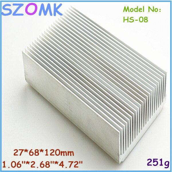 1 pc, aluminum extrusion case heat sink 27*68*120mm electronic heatsink computer heatsink instrument case