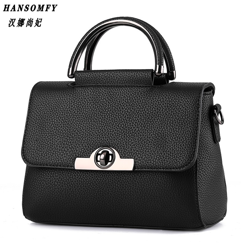100 Genuine leather Women handbags 2019 New Commuter Bag Fashion Handbag Crossbody shaping Shoulder Handbag in Top Handle Bags from Luggage Bags