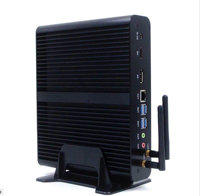 New Minipc Quad Core Mini PC Windows 7 Turbo boost 2.08GHz Core i7 7500U Dual HDMI TV Box Micro Computer 300M WiFi Micro PC