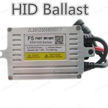 Polarlander 2pcs Fast Bright Slim Xenon Ballast F5 55W HID BallastAC Electronic Ballast Auto Headlight HID Ballast