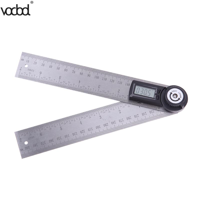 2 in 1 200mm/300mm Stainless Steel Digital Angle Ruler Protractor Level Measuring Tool Electronic Metal Digital Straight Rulers цена