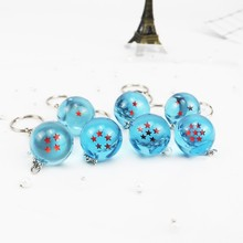 Products Hot Japanese Cartoon Anime Blue Ball Key Ring Key Ring Jewelry Home Furniture Decoration Children's Toys Gifts TOY168-1(China)