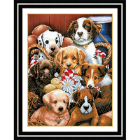 DIY 5D Diamond Painting Dog Animal Diamond Embroidery Cross Stitch 3D Diamond Mosaic Needlework Crafts Christmas