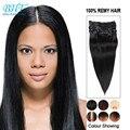 Chinese Virgin Hair Clip in Human Hair Extensions 10 Pcs 100g Clip In Human Hair Extensions For Black Women Clip Extensions