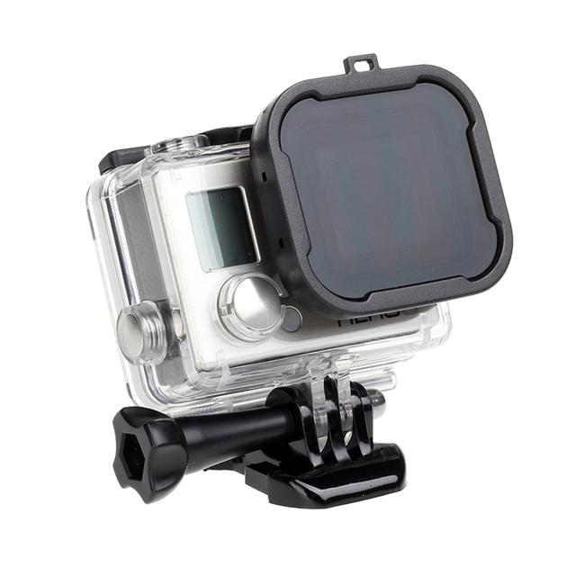 Caja de filtro de lente impermeable para GoPro