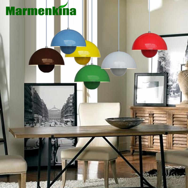Modern Verner Panton Flowerpot pendant lamp Light UFO chandelier simple child bedroom living room dining light E27 AC110-240V